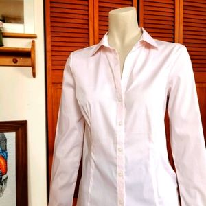 H&M light pink slim fit button shirt size small